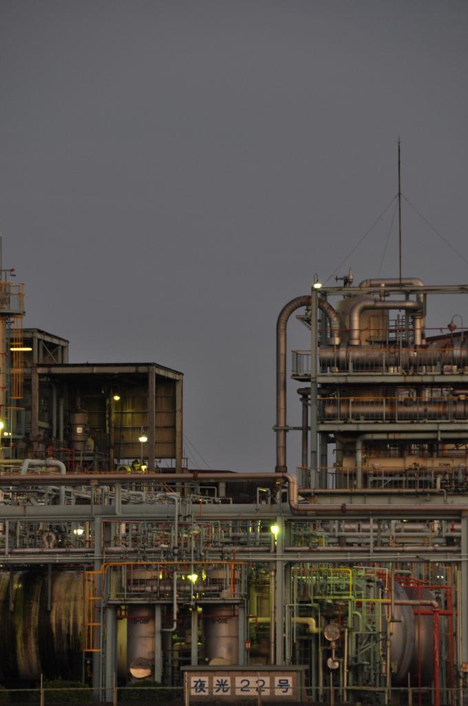 工業地帯で撮影